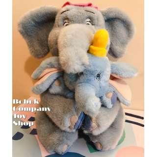 1990s Disney Dumbo Mrs Jumbo 迪士尼 小飛象 和媽媽 玩偶 美國二手玩具 娃娃 絕版玩具