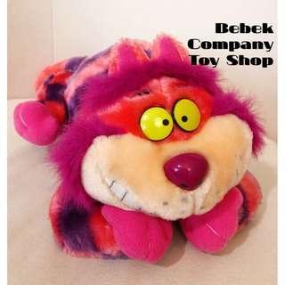 1990s Disney Alice Cheshire Cat 迪士尼 愛麗絲夢遊仙境 妙妙貓 玩偶 美國二手玩具 娃娃