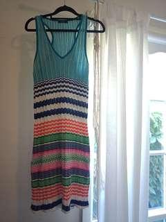 Rainbow Multi-colour knit crochet dress
