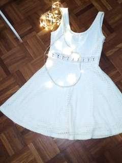 Simple White Lace Dress