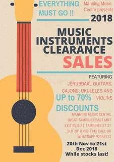 Music Instruments Clearance Sales (Everything must go!!)