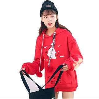 Cute Halloween Trick or Trick Hoodie in Red! 💕