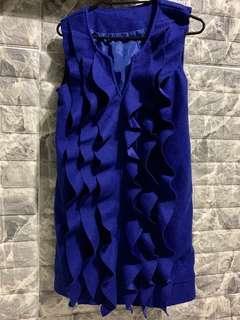 Blue Ruffled one piece