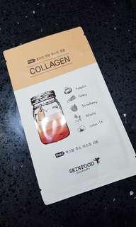 Skinfood Boosting Juice 2-Step Mask Sheet (Collagen)