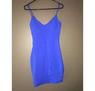Size 8 blue mini dress