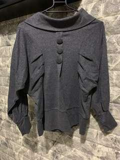 Grey frilled top