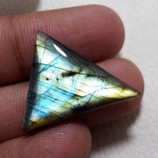 天然 拉长石晶体 Rare Multi LABRADORITE Pendant Labradorite Cabochon 24x21x5.5 mm