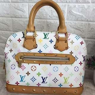 4d175bb4c3ed Louis Vuitton lv multicolor alma white