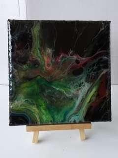 Canvas Painting: Acrylic Pour Abstract