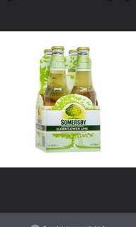 🚚 Somersby Cider Apple with Elderflower Lime 24 Packs Can Beer Alcohol vodka