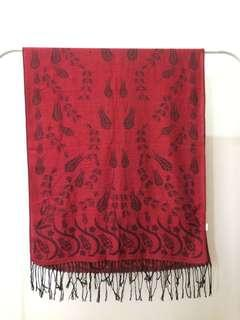 Scarf Pashmina (red)