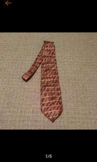 🚚 古著 義大利 Pura Seta 金條印花 絲質領帶 寬版領帶 古著領帶