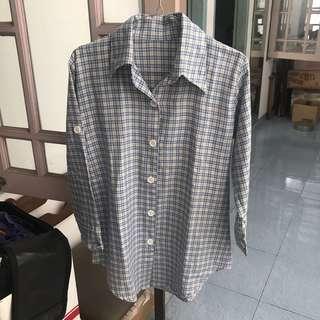 Kemeja tartan boys shirt