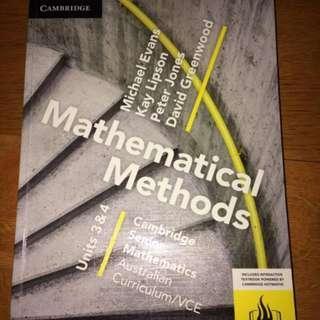 VCE Cambridge Math Methods Unit 3&4