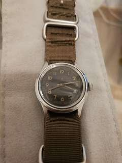Vintage Swiss Made Military Style Watch