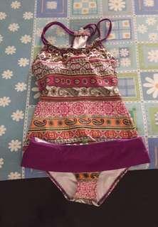 Aztec Patterned Tankini Swimsuit