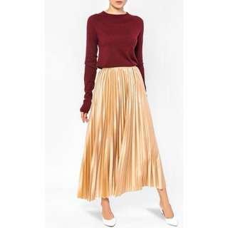 Audrey pleated Skirt in Copper