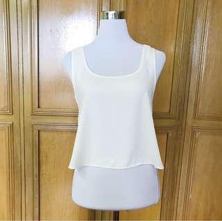 REPRICED! Forever 21 White Sleeveless Top