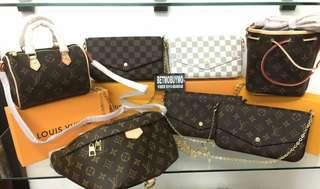 SALE LOUIS VUITTON BAGS WITH SERIAL BOX DUSTBAG AND CARDS