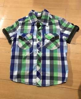 Grizzly Boys Checkered Short Sleeves Polo