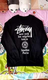 Mastermind Japan x Stussy World Tour Black Crewneck Tee.