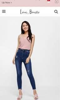 LF Love bonito Greta High-rise Skinny Ankle Jeans - Medium Wash (26)