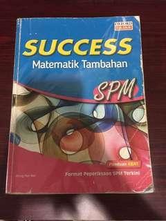 SUCCESS MATEMATIK TAMBAHAN SPM