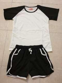 Casual Tee and Shorts Set