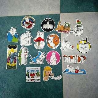 🚚 🌸 ripndip glossy stickers