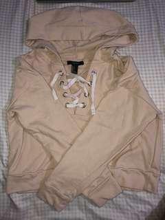 f21 crop hoodie