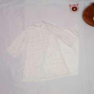 White lace dress【RM50 and above free shipping!!】