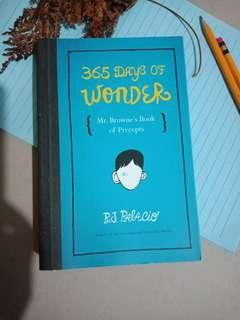 365 Days of Wonder mr. Browne's Book of Precepts