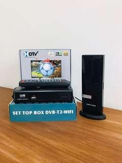 Draco Antenna with DVB T2 Box 高清电视数码相机