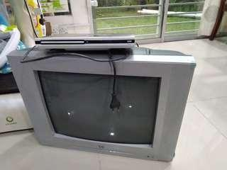 Old crt tv plus dvd player