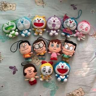 香港 7-11 多款 叮噹 多啦A夢 Doraemon & Friends 大頭想隨身公仔 🌟