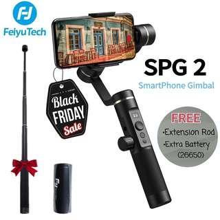 Feiyu SPG 2 Smartphone Gimbal/Free Ex.Rod+Extra Battery! Black Friday Sale!