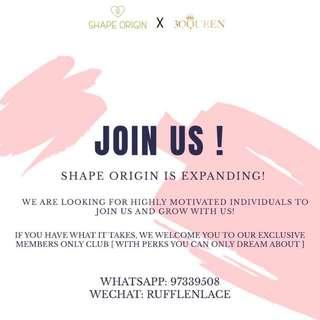 SUSENJI X SHAPE ORIGIN RECRUITING PARTNERS