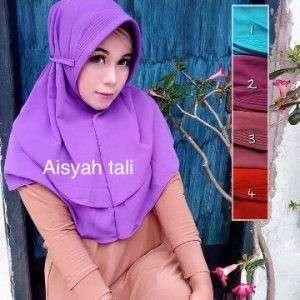 Jilbab instan aisyah tali belakang kekinian