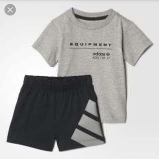 🚚 Authentic Adidas Baby Shirt and Shorts Set