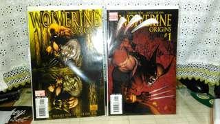 2006 Marvel Wolverine Origins #1 and Michael Turner Variant #1.