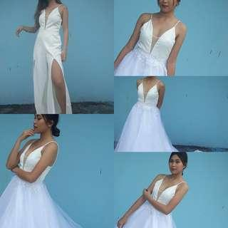 Party ready white gown