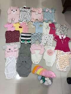 [Preloved] (0-6M) Baby Girl Clothings In Bundle