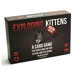Exploding Kittens NSFW with sleeves