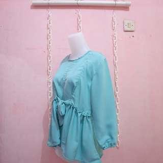 Blouse mint hijab