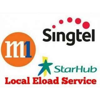 M1 / SingTel / Starhub Easy Load Prepaid Top Up