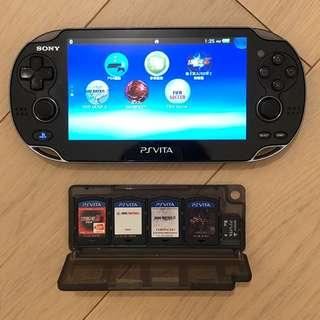 PSVITA PSV with 4 games and 8GB memory card and charging cable