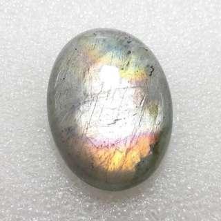 天然 拉长石晶体 Pendant Labradorite Cabochon Making Jewelry All Labradorite Colors of This Stone Light Voilet,Purple, Yellow, Flash 38x28x8mm