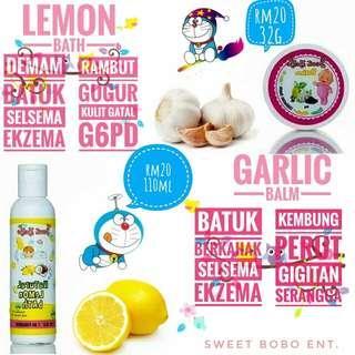 Lemon Bath Garlic Balm