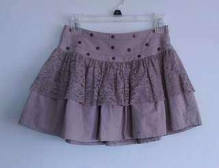 Guess Girls' Ash Grey Rocker Chic Skater Skirt