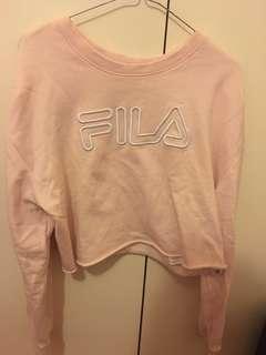 Fila blush cropped jumper